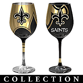 New Orleans Saints Wine Glass Collection