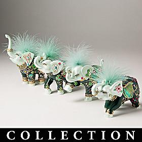 Luck Of The Irish Elephant Figurine Collection