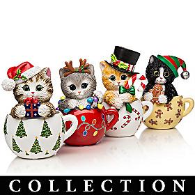 Kayomi Harai's Meow-y Christmas Cups Figurine Collection