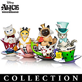 Disney Tea-lightful Wonderland Cat Figurine Collection