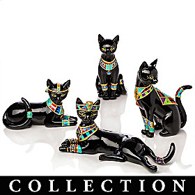 Egyptian Treasures Of Purr-fection Figurine Collection
