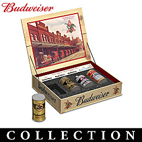Evolution Of The Budweiser Can Figurine Collection