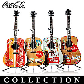 COCA-COLA A Song And A Smile Guitar Sculpture Collection