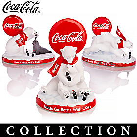 COCA-COLA Polar Bears Figurine Collection