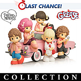 Precious Moments Pink Ladies Figurine Collection