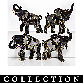 Empowering Crystal Elegance Elephant Figurine Collection