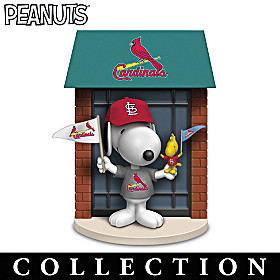 Snoopy St. Louis Cardinals Fan-itude Figurine Collection
