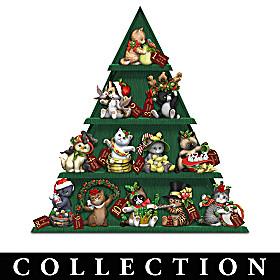Kayomi Harai's 12 Days Of Christ-meows Figurine Collection