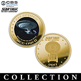 STAR TREK: The Next Generation Golden Proof Coin Collection