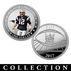 The Tom Brady NFL Legacy Silver Dollar Coin Collection