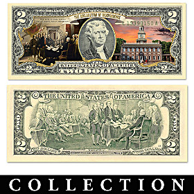 All-New U.S. History $2 Bills Currency Collection