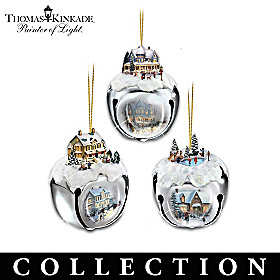 Thomas Kinkade Sleigh Bells Ornament Collection