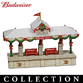 Budweiser Holiday Railroad Train Accessory Collection