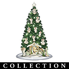Emerald Elegance Christmas Tree Nativity Collection