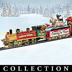 Santa Pups Are Coming To Town Express Train Collection