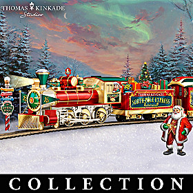 Thomas Kinkade North Pole Express Train Collection
