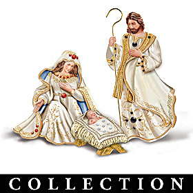 Sacred Stones Of The Bible Nativity Figurine Collection