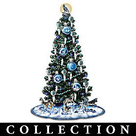 Al Agnew Illuminated Wolf Christmas Tree Collection