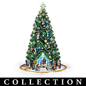 Jeweled Nativity Christmas Tree Collection