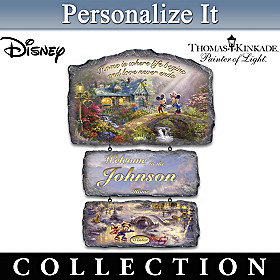 Disney's Seasons Of Joy Personalized Welcome Sign Collection