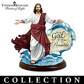 Thomas Kinkade Miracles Of Christ Sculpture Collection