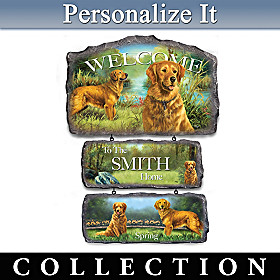 Golden Retrievers Personalized Welcome Sign Collection