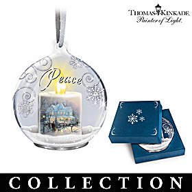 Thomas Kinkade Candle's Glow Ornament Collection
