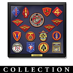 USMC Historic Replica Patch Wall Decor Collection