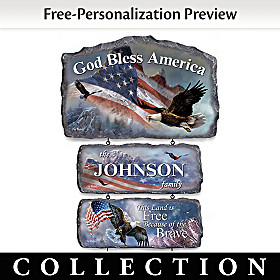 God Bless America Personalized Welcome Sign Collection