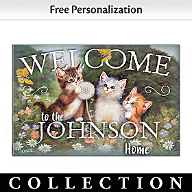 Purr-fect Greeting Personalized Welcome Mat Collection