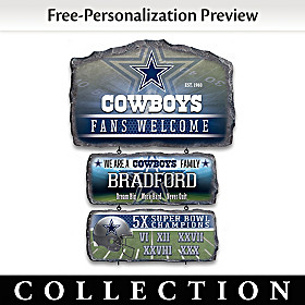 Dallas Cowboys Personalized Welcome Sign Collection