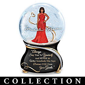 Michelle Obama True Inspirations Glitter Globe Collection