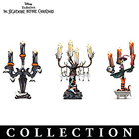 Nightmare Before Christmas Illuminated Candelabra Collection