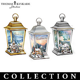 Thomas Kinkade Holiday Traditions Lantern Collection