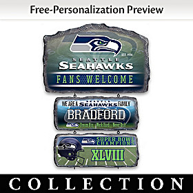 Seattle Seahawks Personalized Welcome Sign Collection