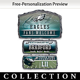 Philadelphia Eagles Personalized Welcome Sign Collection