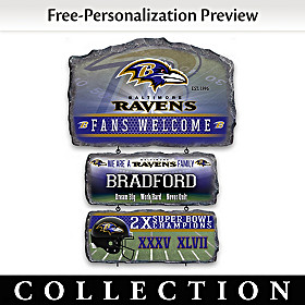 Baltimore Ravens Personalized Welcome Sign Collection