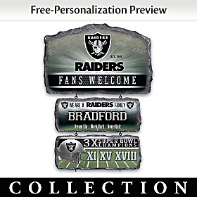 Las Vegas Raiders Personalized Welcome Sign Collection