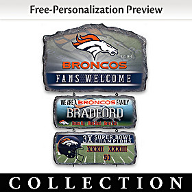Denver Broncos Personalized Welcome Sign Collection