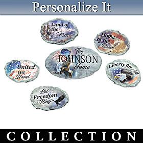 Patriot's Pride Personalized Garden Stone Collection