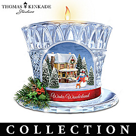 Thomas Kinkade Sparkle And Shine Candleholder Collection