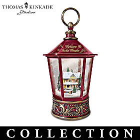 Thomas Kinkade Snow Wonderful Snowglobe Lantern Collection