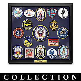 Navy Historic Replica Patch Wall Decor Collection