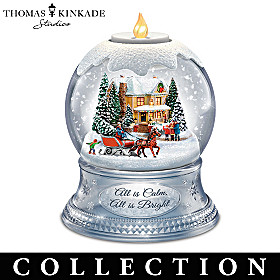 Thomas Kinkade A Season Of Lights Snowglobe Collection