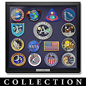 Apollo Mission Replica Patch Collection