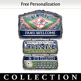 New York Yankees Personalized Welcome Sign Collection