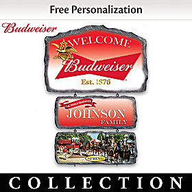Budweiser Personalized Welcome Sign Collection