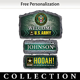 United States Army Personalized Welcome Sign Collection