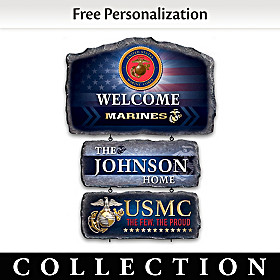 USMC Personalized Welcome Sign Collection