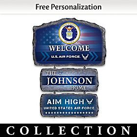 United States Air Force Personalized Welcome Sign Collection
